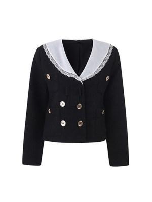 Lim Joo Kyung – True Beauty Black Navy Collared Jacket (11)