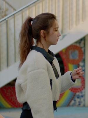 White Plush Jacket | Oh Mi Joo – Run On