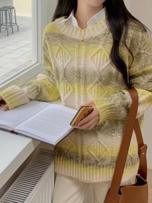 Shownu – Yellow Gradient Mohair Sweater (2)