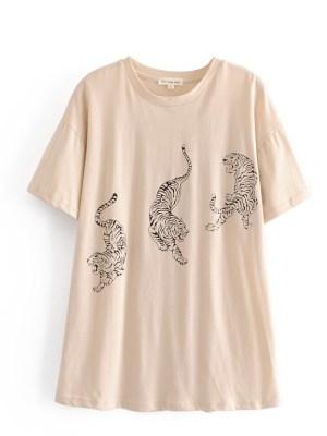 Solar – Tiger Print Beige T-shirt (7)