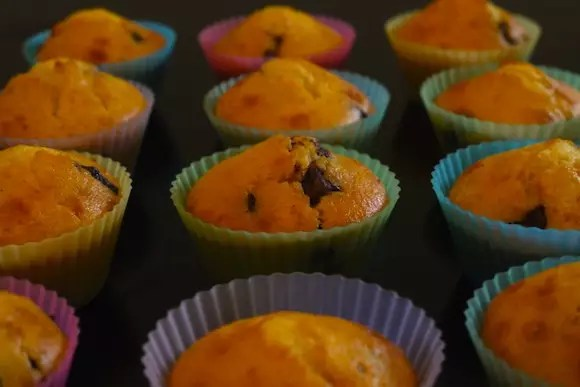 Muffins pépites de chocolat ou fruits rouges