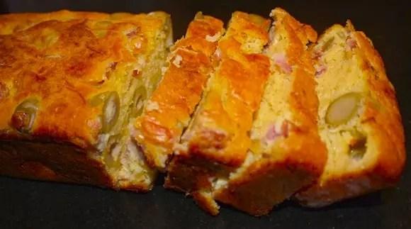 cake gouda jambon olives vertes