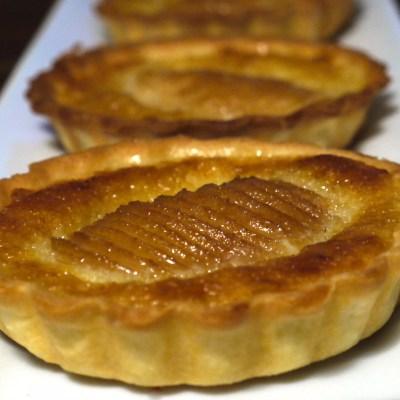 Pear frangipane tarts
