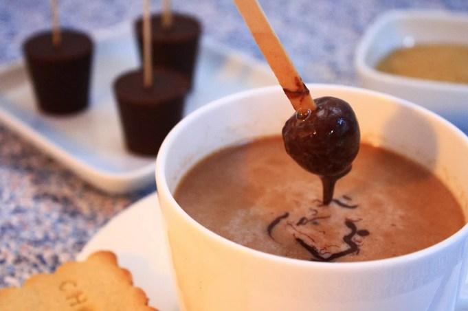 sucettes chocolat à fondre sablés chocolat chaud