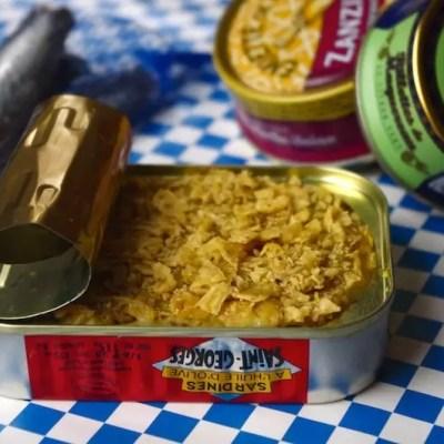Purée croustillante pommes de terre-courgettes-sardines