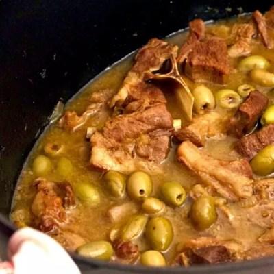 Tajine d'agneau olives vertes-citron confit