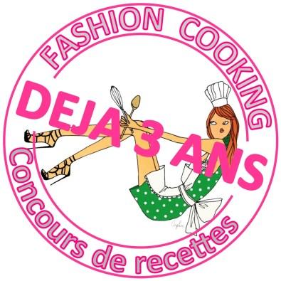 Concours recettes Fashion Cooking 3 ans déjà logo
