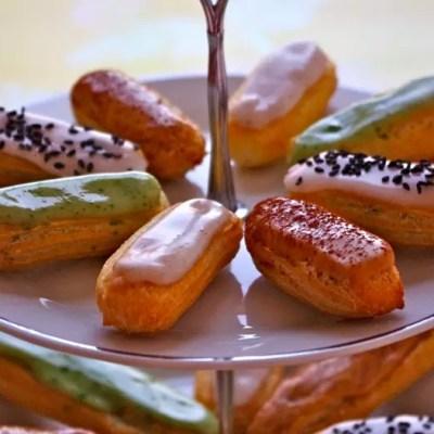 Pâte à chou & Eclairs vanille, café, pistache, sésame noir (tutoriel photo)