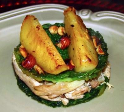 Poulet-jus-noisette-pommes-roties