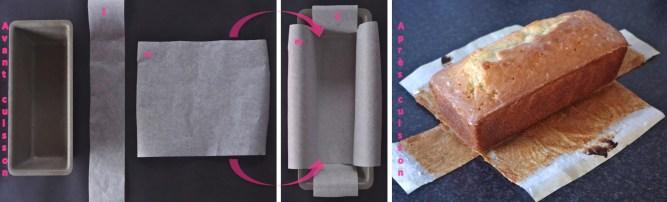 chemiser moule à cake papier cuisson