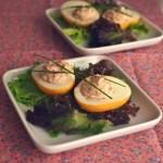 Œufs mimosa cream cheese-jambon blanc