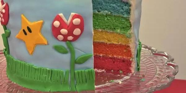 rainbow cake mario bros. Black Bedroom Furniture Sets. Home Design Ideas