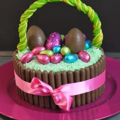 Gâteau panier de Pâques chocolat-coco [en vidéo]