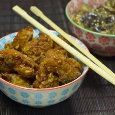 Poulet karaage au vinaigre (beignets de poulet japonais)