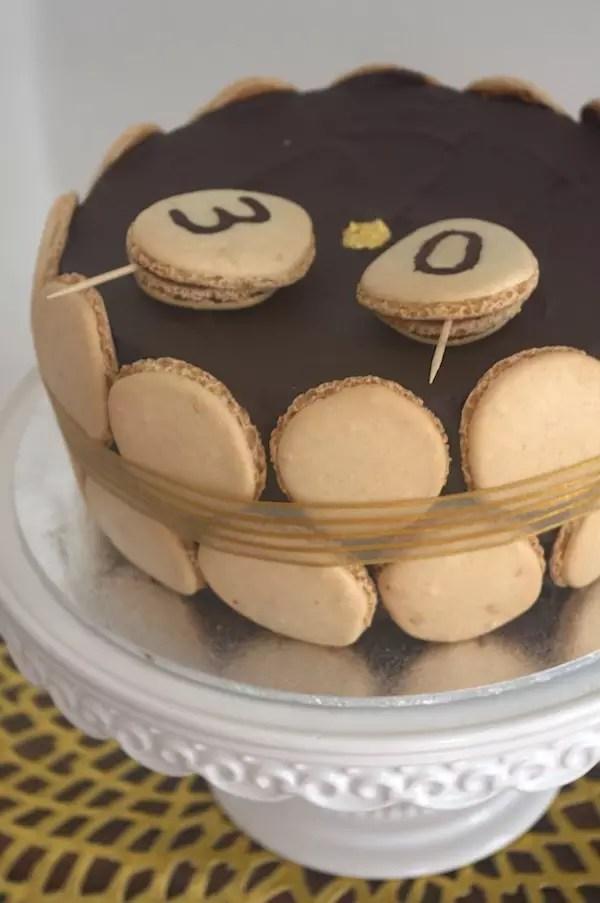 Gateau chocolat praline coques-macarons