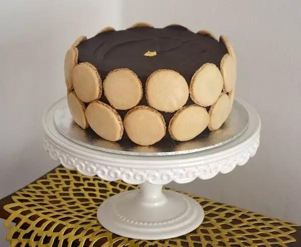 Gateau chocolat praline macarons