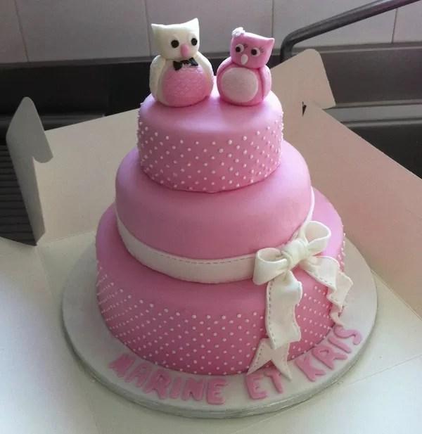 Gateau d'anniversaire pate a sucre
