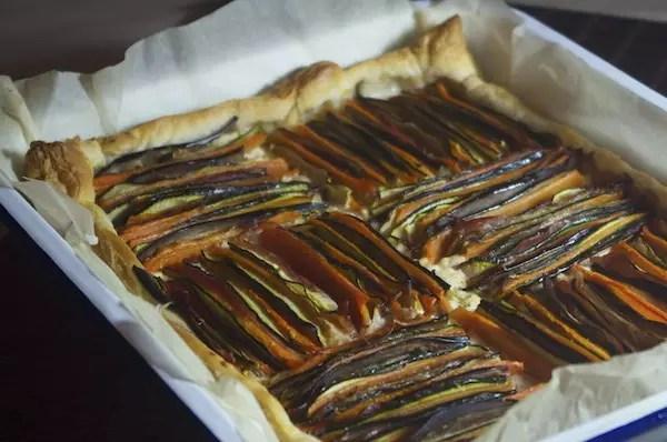 tarte graphique legumes chevre