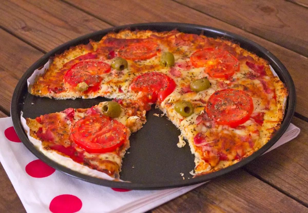 Pizza croûte chou fleur