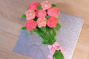 bouquet de roses cupcakes