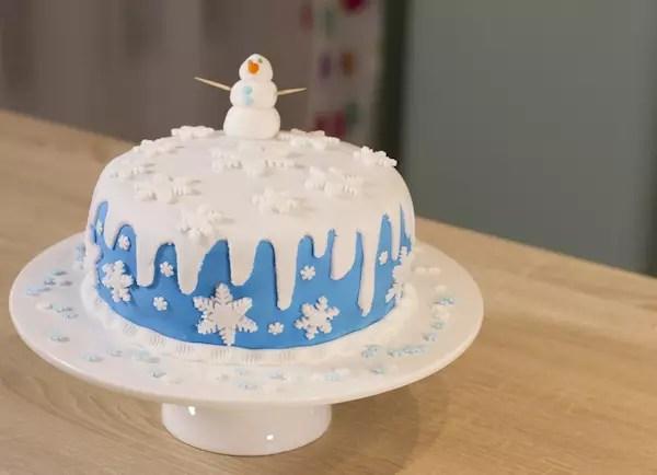 Gâteau Thème Reine De Neiges Frozen