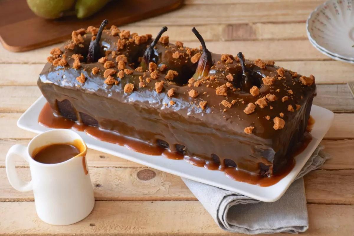 Cake poires entières - chocolat