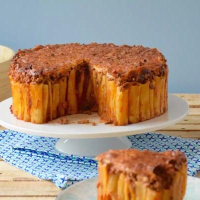 Aussi beau qu'un gâteau – Gâteau de pâtes façon bolognaise