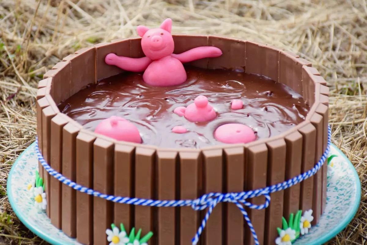 Gâteau bain de boue de cochons