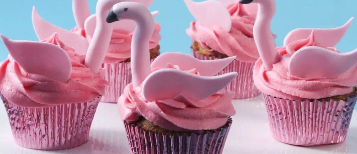 Une touche de rose – Cupcakes flamants roses