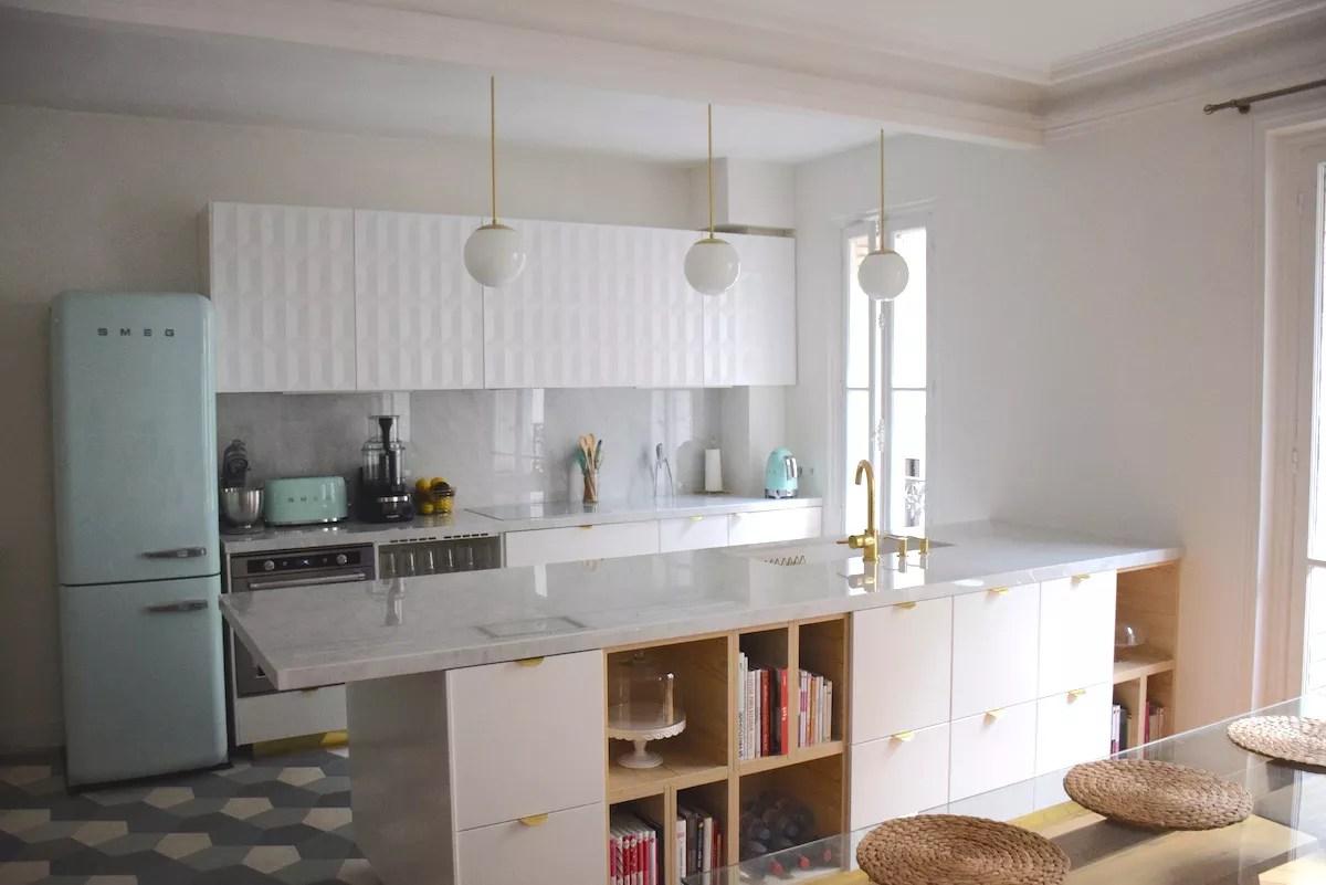 Refaire Une Cuisine À Moindre Frais ma nouvelle cuisine or, vert d'eau, marbre - anne-sophie