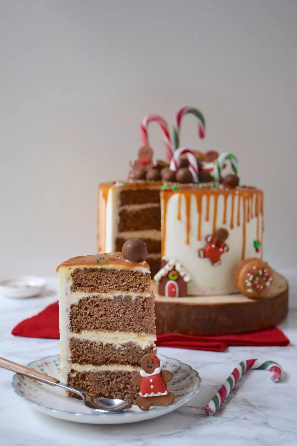 Drip cake de Noël à la pomme