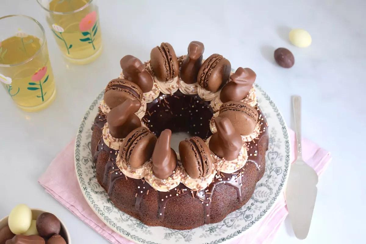 Bundt cake & ganache montée aux Carambars de Pâques
