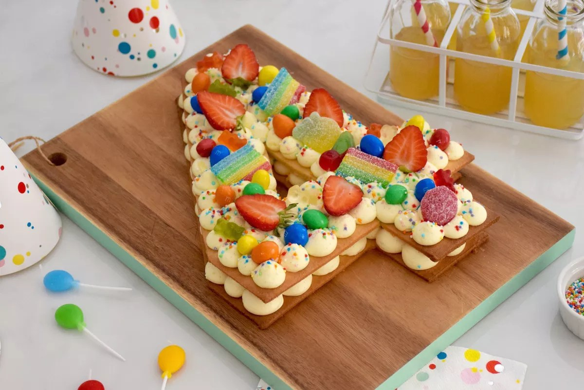 Number cake enfant vanille fraise anne sophie fashion cooking - Gateau a imprimer ...