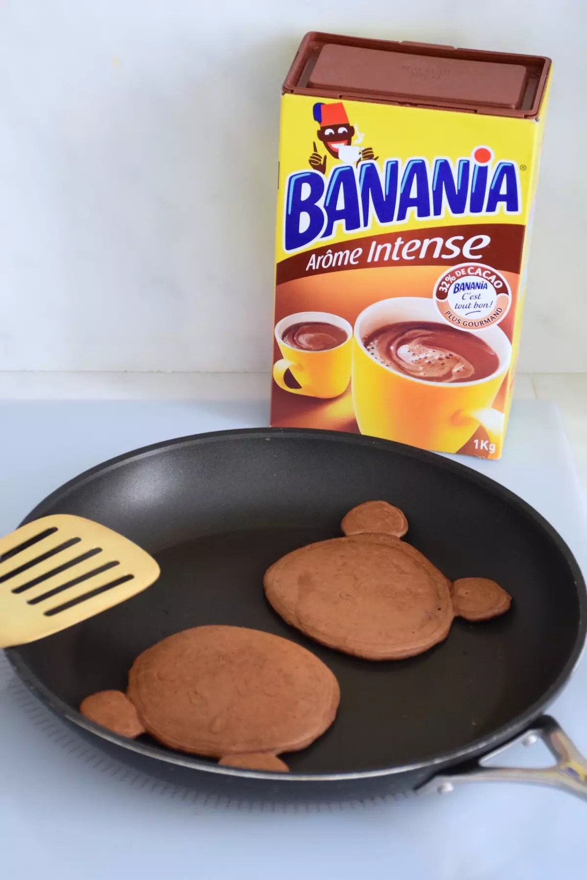 Pancakes oursons au Banania
