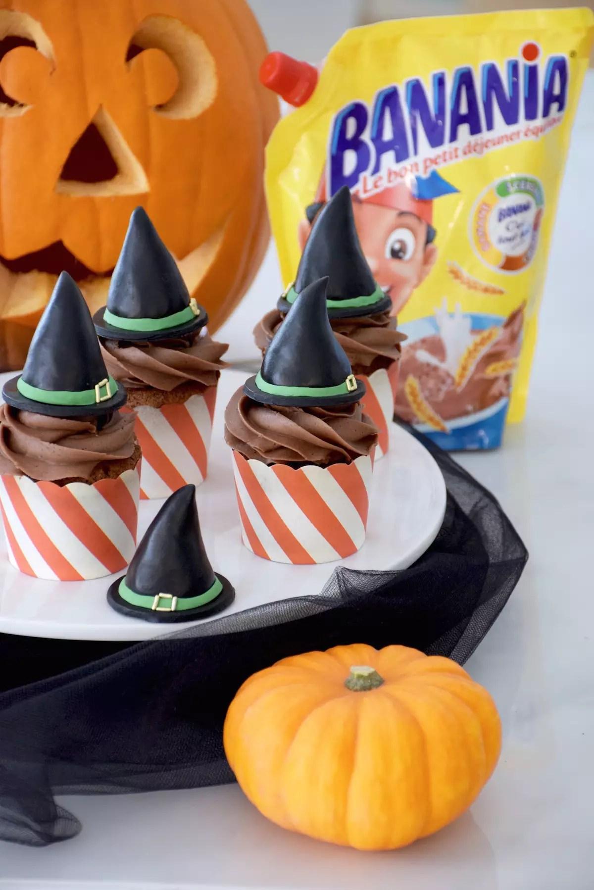 Cupcakes au Banania pour Halloween