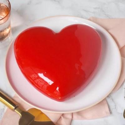 Du love… – Gâteau cœur fraise pistache