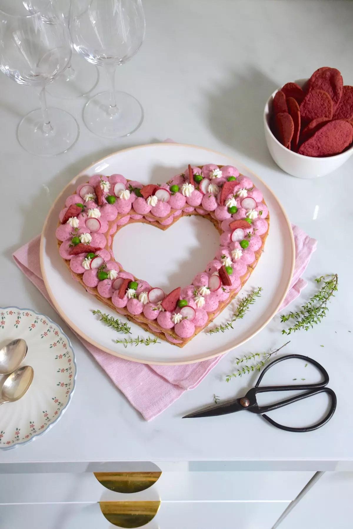 Heart Cake salé