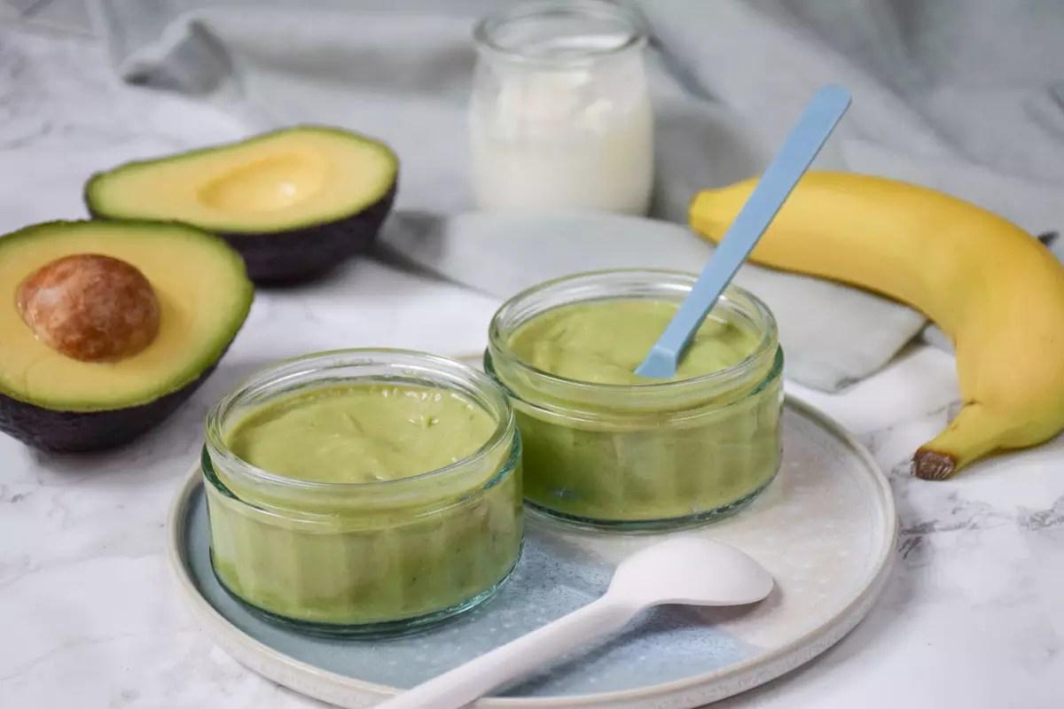 Initier Bébé Au Pot compote pomme-banane-kiwi
