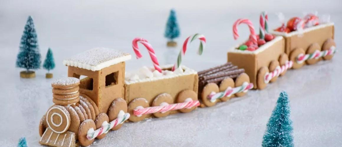 En avant pour Noël – Train en pain d'épices