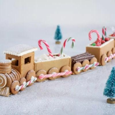 Train en pain d'épices - Gingerbread train