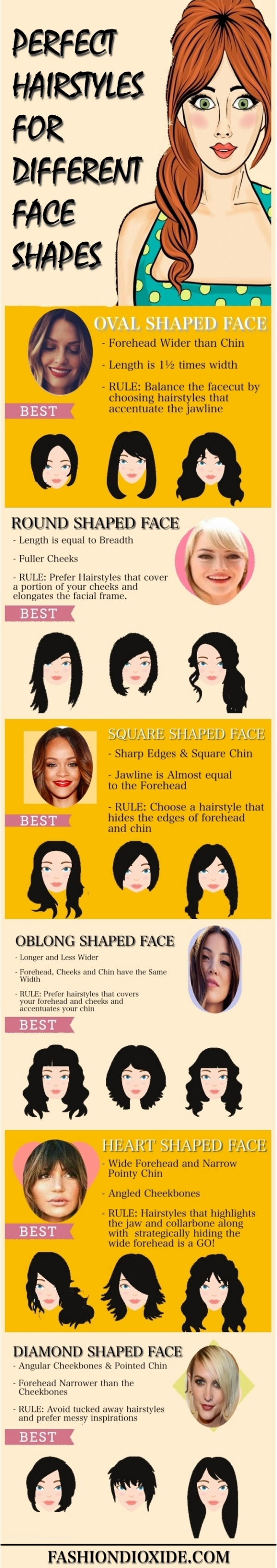 perfect hairstyles for different face shapes - fashiondioxide
