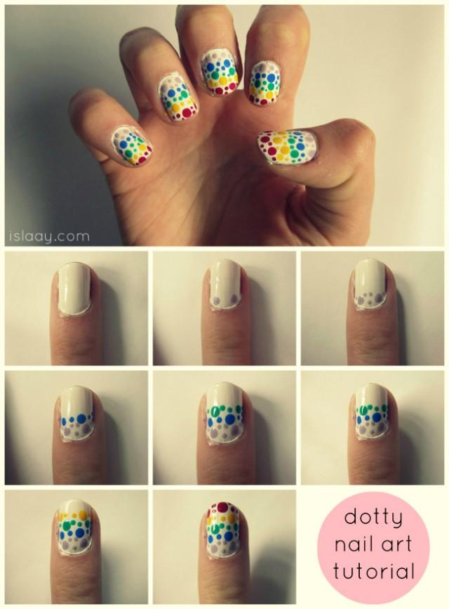 Dotty Nail Art Tutorial Easy Dotting Tool Cute Polish Cutepolish Rainbow Stripes Spots Free