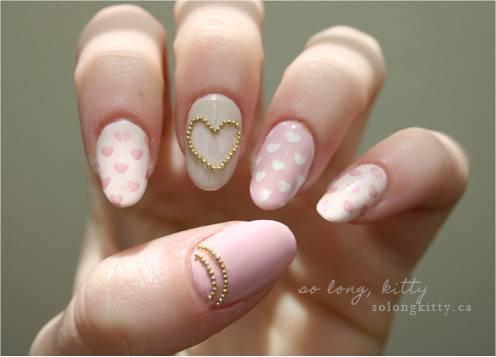 234623 Nails Glam Pink