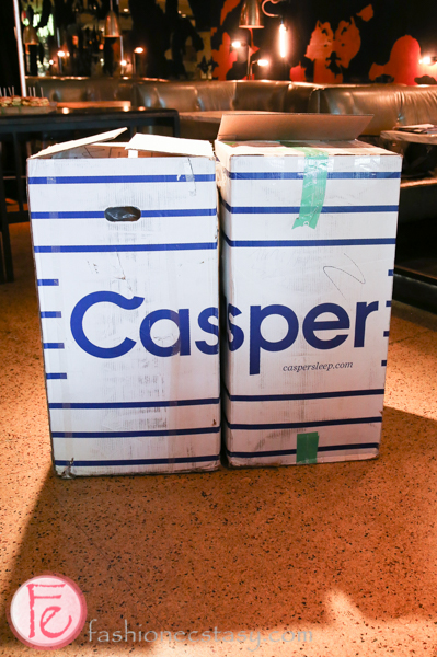 casper box for casper mattress Canadian launch at drake hotel