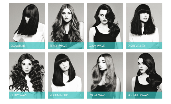 Sassoon Salon Blow & Style menu