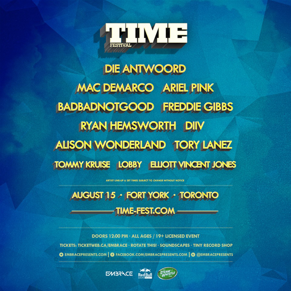 Time Festival line-up