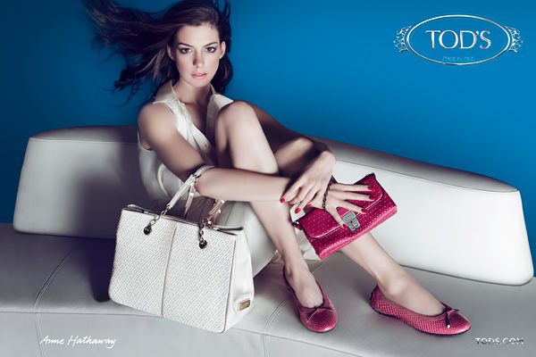 Anne Hathaway in the latest Tods Campaign