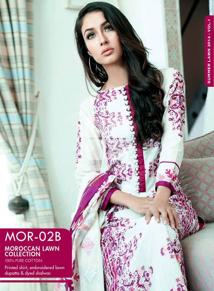 Gul Ahmed Stylish Summer Moroccan Lawn Clothing Collection