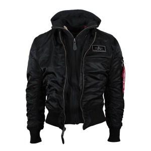 ALPHA Industries Falcon II klassische Herren Bomberjacke Black online bestellen bei Mode Freund fashion Shop ab 50€ Versandkostenfrei