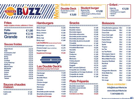Friterie_LeBuzz_menu